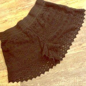 Beautiful Rewind xl black lace stretchy shorts